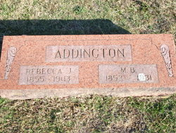 Rebecca Jane <I>McClelland</I> Addington