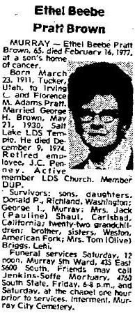 Ethel Beebe <I>Pratt</I> Brown