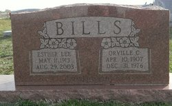 Esther Lee <I>McCubbin</I> Bills