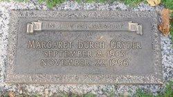 Margaret L <I>Burch</I> Gryder