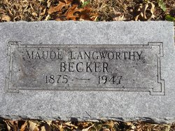 Maude <I>Langworthy</I> Becker