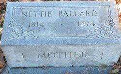 Nettie Faye <I>Gilbert</I> Ballard