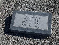 Marie <I>Lowrey</I> Hoggett