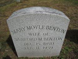 Mary <I>Moyle</I> Benton