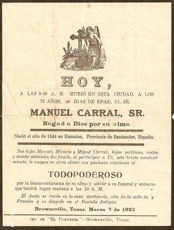 """Manuel """"Don"""" Carral, Sr"""