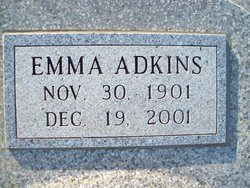 Emma <I>Breedlove</I> Adkins
