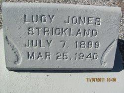 Lucy <I>Jones</I> Strickland