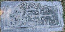 Betty <I>Hagood</I> Carey