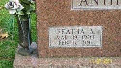 Reatha A Anthony
