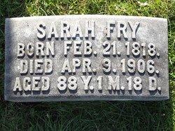 Sarah <I>Merkle</I> Fry