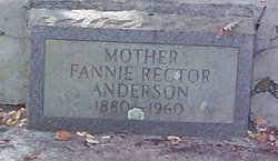 Fannie <I>Rector</I> Anderson