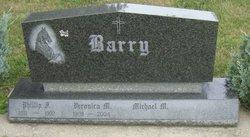 """Veronica M. """"Sis"""" <I>Martin</I> Barry"""