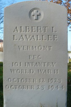 PFC Albert L Lavallee