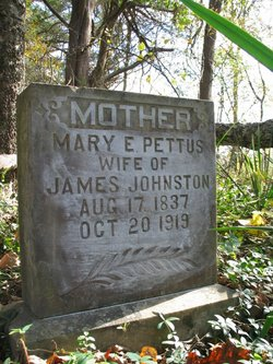 Mary E <I>Pettus</I> Johnston