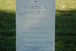 PVT Harry Roland Garrity
