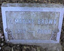 "Georgia Maxine ""Maxine"" <I>Selm</I> Brown"