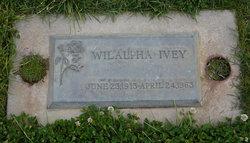 Wilalpha Jane <I>Tomlin</I> Ivey
