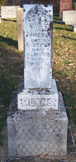 Sarah A. <I>Evans</I> Means