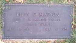 Billy G Matson