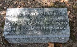 Lydia Florence <I>Taylor</I> Slaughter