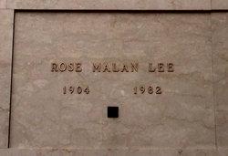 Rose <I>Malan</I> Lee