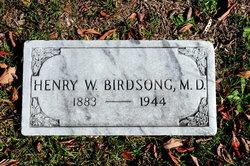 Dr Henry Walter Birdsong, Sr