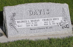 "Mildred Lucille ""Toots"" <I>Shahan</I> Davis"