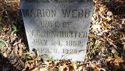 Marion G. <I>Webb</I> McWhorter