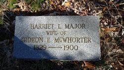 Harriett Lucinda <I>Major</I> McWhorter