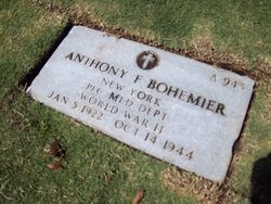 PFC Anthony F Bohemier