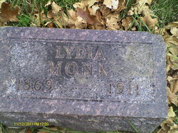 Lydia May <I>McDowell</I> Monk