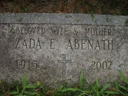 Zada E <I>Jones</I> Abenath