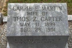Carrie E <I>Martin</I> Carter