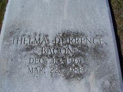 Gladys Thelma <I>Durrence</I> Bacon