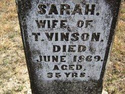 Sarah <I>Howard</I> Vinson