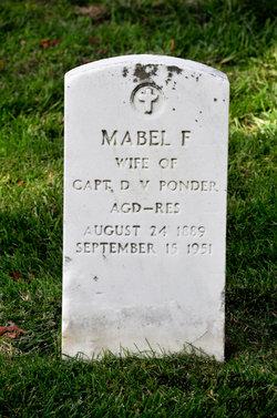 Mabel F Ponder
