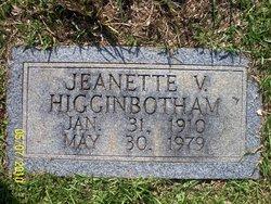 Jeanette V <I>Brooks</I> Higginbotham