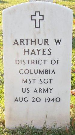 Sgt Arthur W Hayes