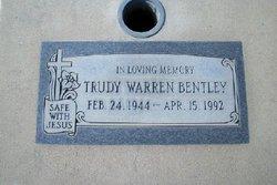 """Gertrude Delores """"Trudy"""" <I>Warren</I> Bentley"""