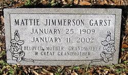 Mattie <I>Jimmerson</I> Garst
