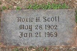 Roxie Zimie <I>Hall</I> Scott