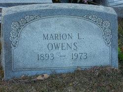 Marion L Owens