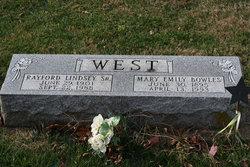 Mary Emily <I>Bowles</I> West