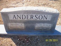 Rosie <I>McNeal</I> Anderson
