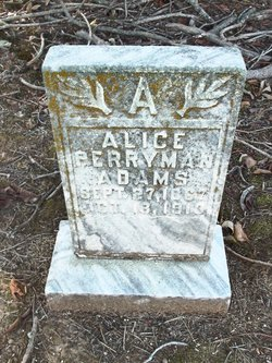 Alice <I>Perryman</I> Adams