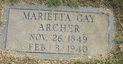 Marietta <I>Gay</I> Archer
