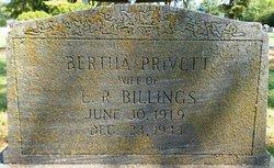 Bertha <I>Privett</I> Billings
