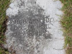 Sarah Ann <I>Deal</I> Hill