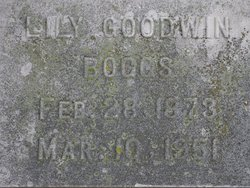 Lily <I>Goodwin</I> Boggs
