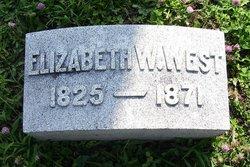 Elizabeth <I>Williams</I> West